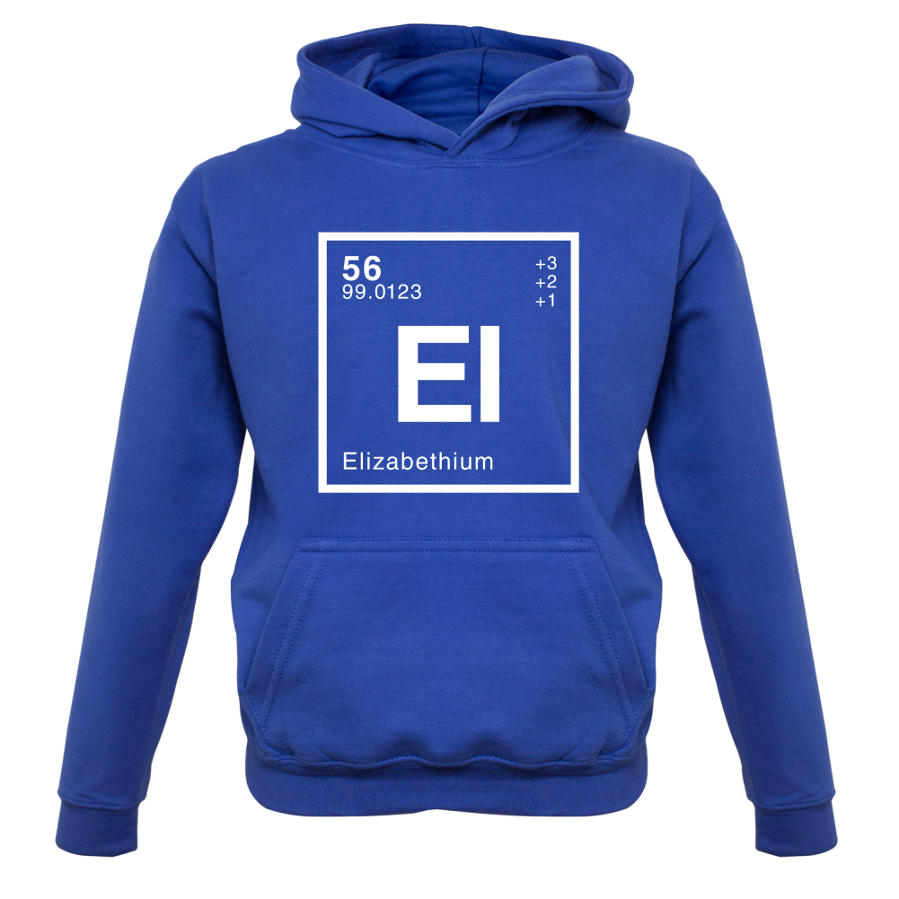 ELIZABETH Periodic Element 9 Colours Kids // Childrens Hoodie Science