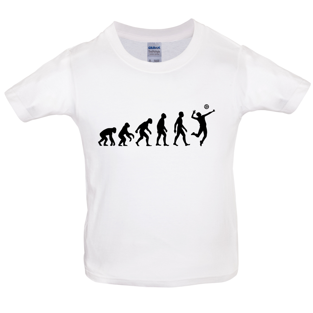Evolution of Man Volleyball - Kids / Childrens T-Shirt - Volley Ball -10 Colours
