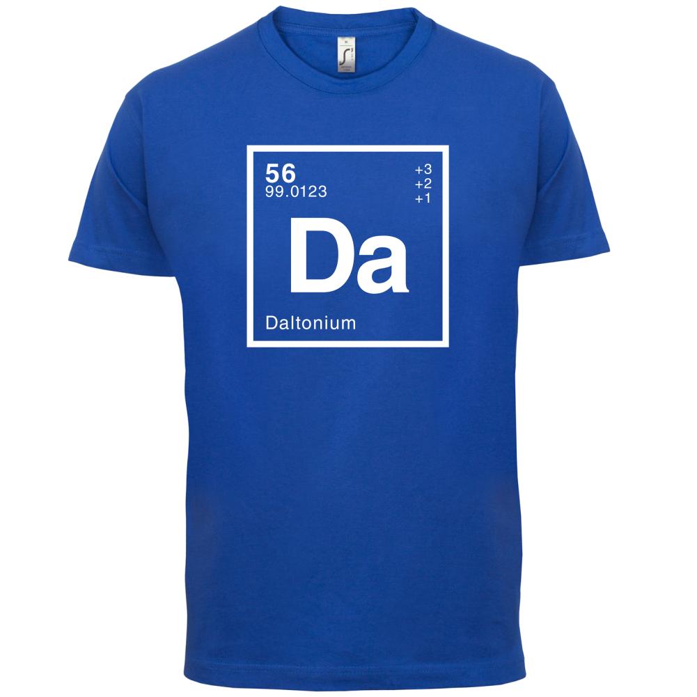 Élément périodique Dalton-T-shirt homme-Geek / - CHIMIE - / 13 couleurs 240e55
