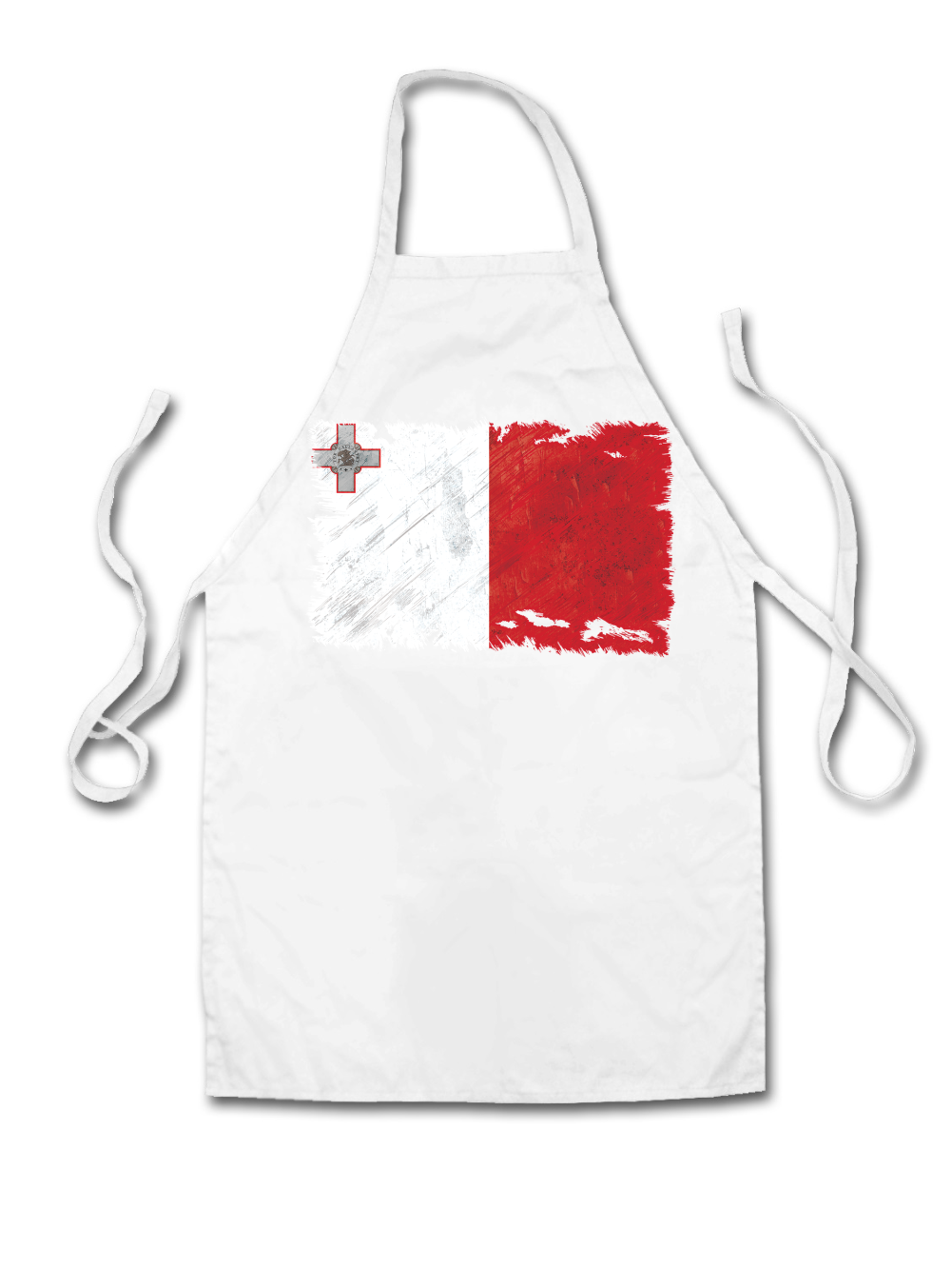 White apron malta - Malta Grunge Style Flag Unisex Fit Apron Maltese