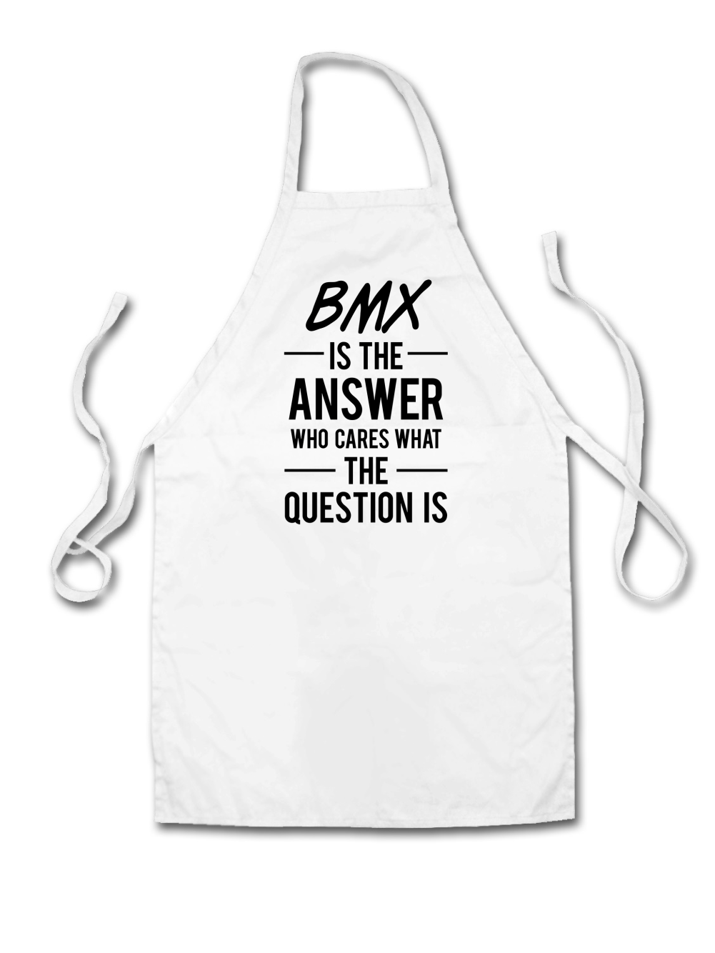 White apron ebay.ca - Bmx Is The Answer Unisex Fit Apron Racing