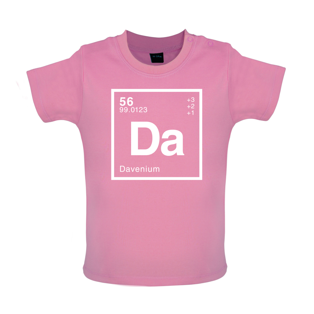 Dave Periodic Element Baby T Shirt Science Geek 8