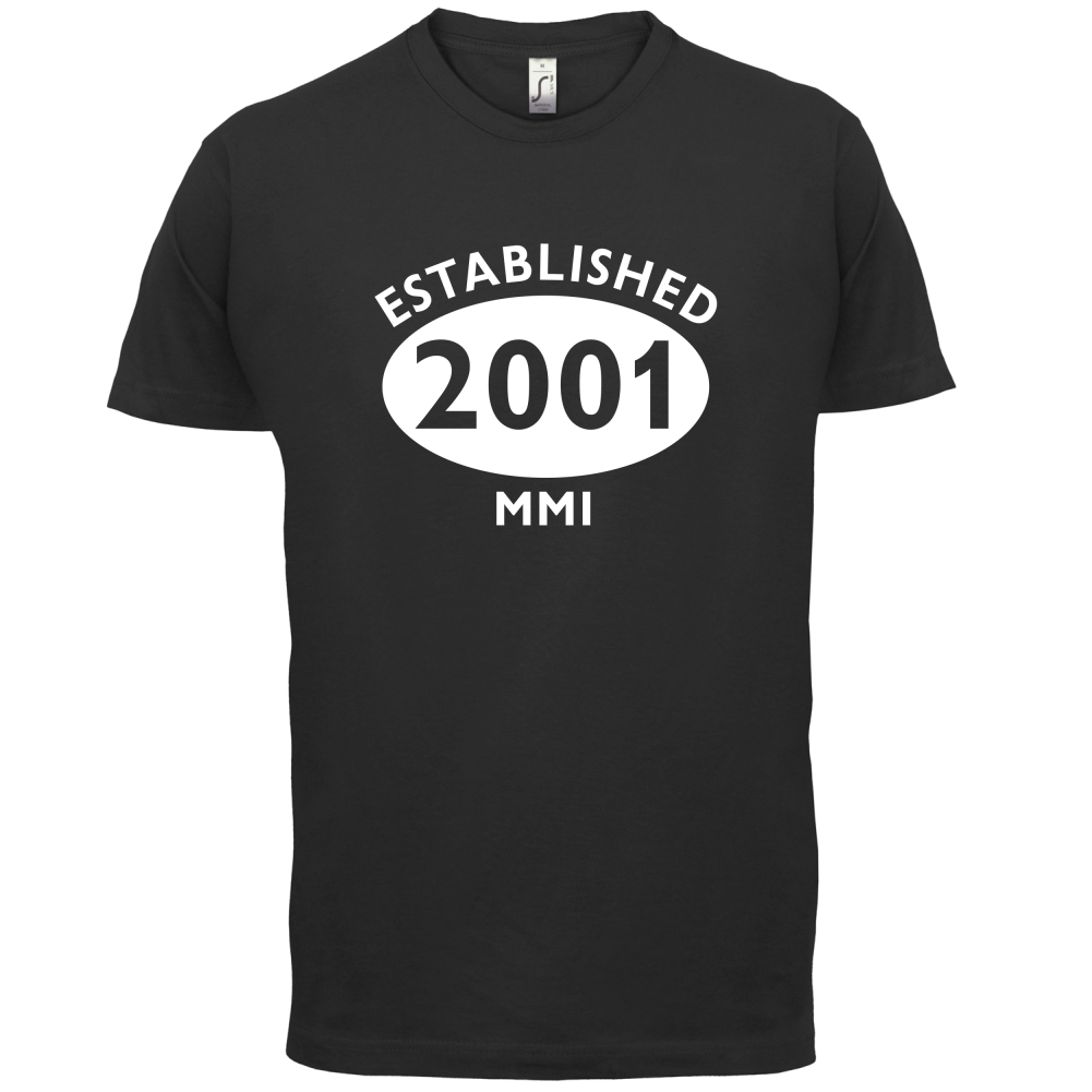 2001 Roman Numerals 15th Birthday Mens T Shirt