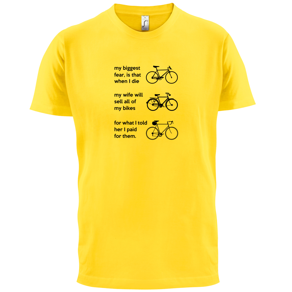 Wife will sell all of my bikes mens t shirt funny for Where can i sell my t shirts