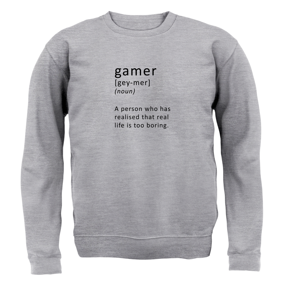 Funny Definition Gamer - Unisex Sweater / Jumper - Gaming / Funny ...