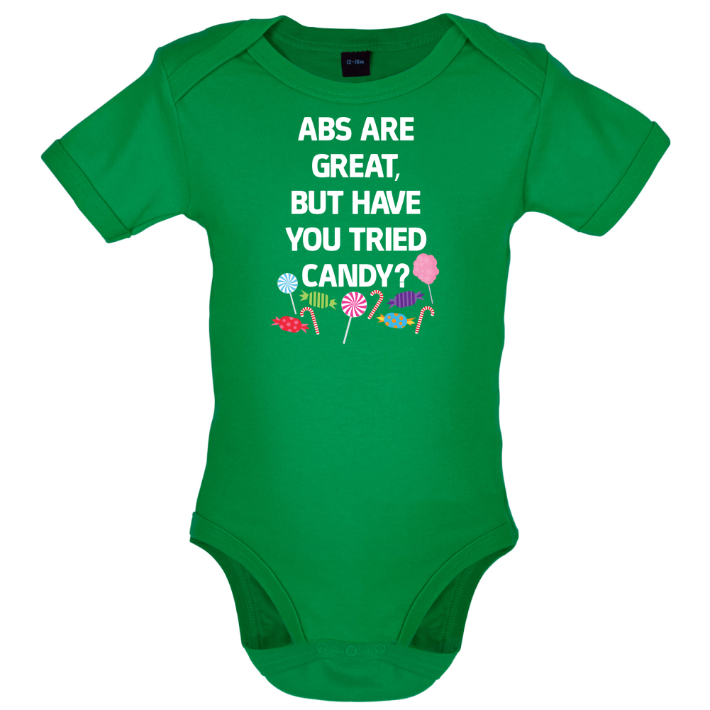 Abs Are Great Candy  Babygrow  Bodysuit  Funny  Diet  Gym  Healthy - Milton Keynes, United Kingdom - We are happy to accept returns of items within 30 days of the purchase date. Buyers can either request a full refund or exchange. We will cover return postage costs where the item is faulty however for change of mind buyers - Milton Keynes, United Kingdom