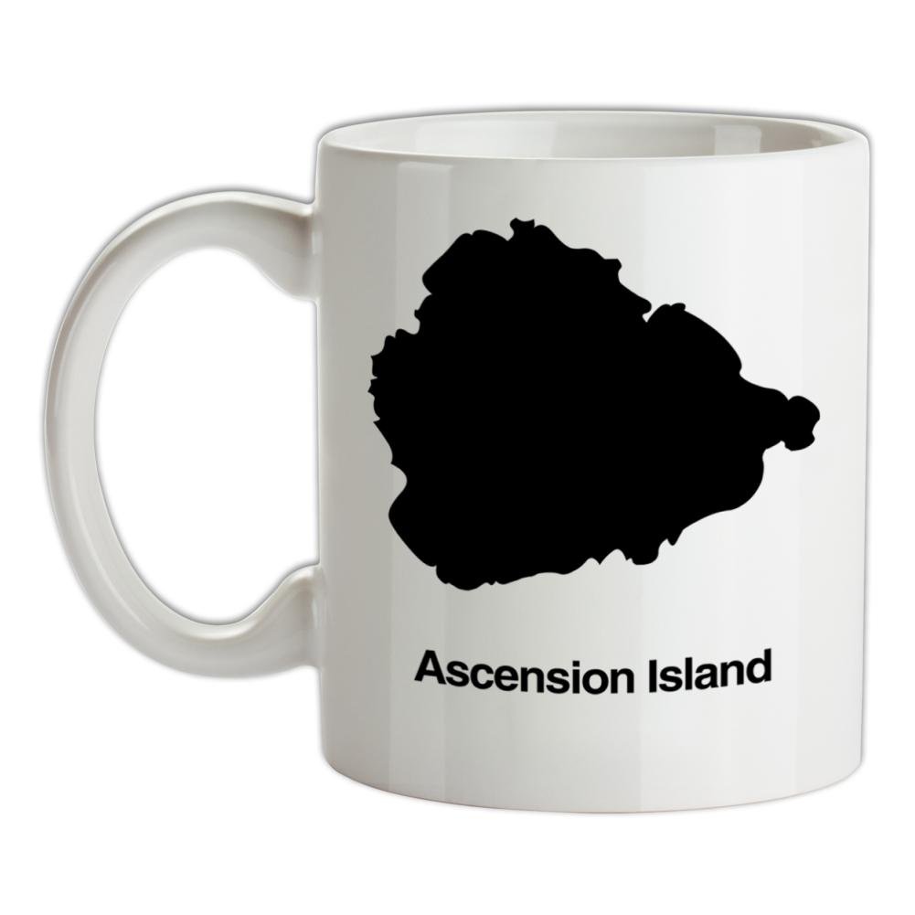 Georgetown Ascension Island Silhouette Mens T-Shirt Saint Helena